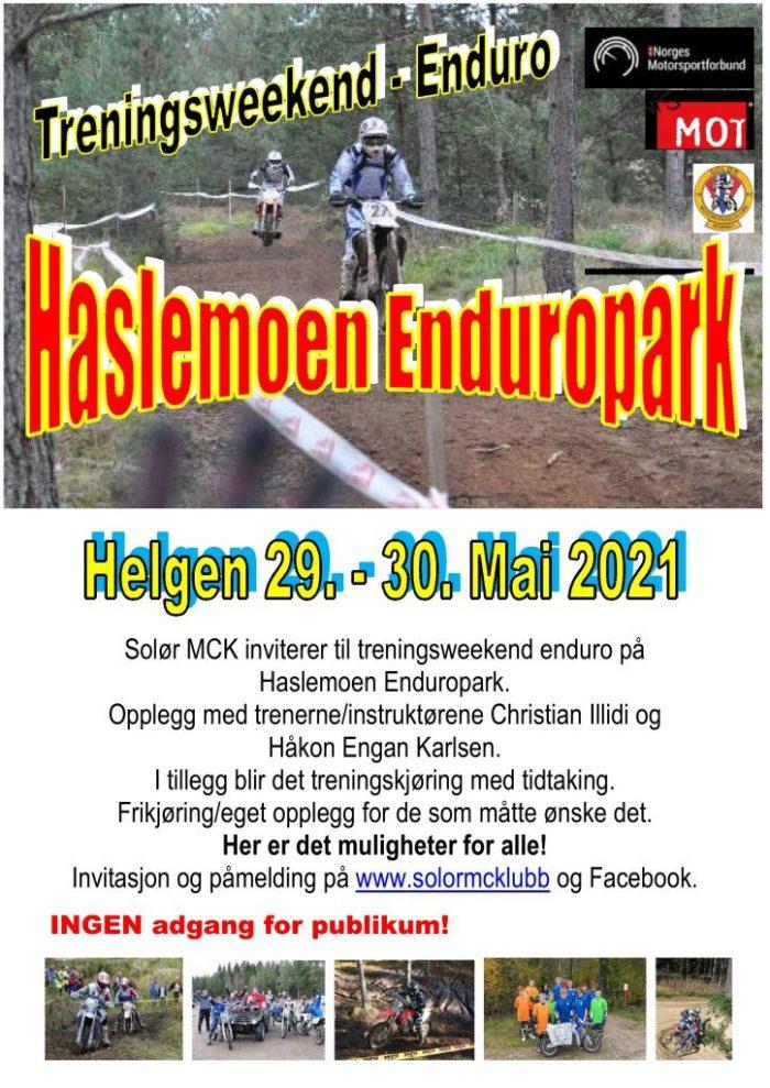 2 - POSTER treningsweekend enduro - Haslemoen Enduropark - mai 2021