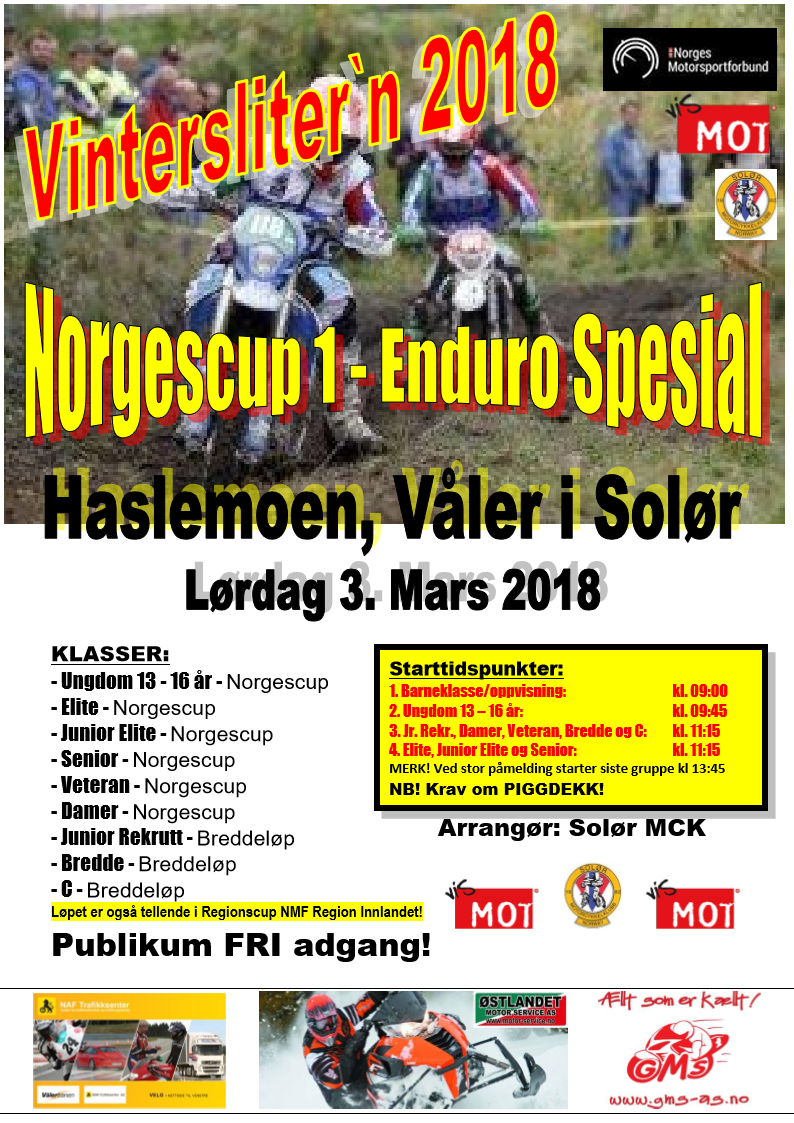 2 - Poster ER VINTERLØP - NC 1 - 2018