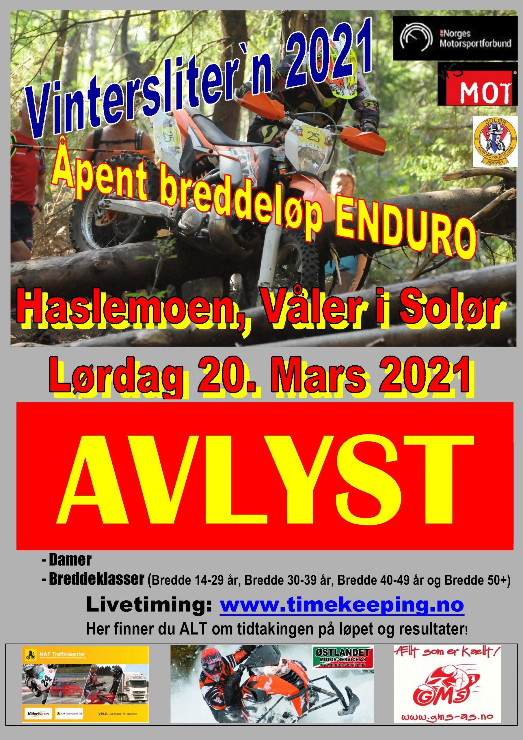 2avlyst - Poster Vinterslitern 2021 - 20.03.2021