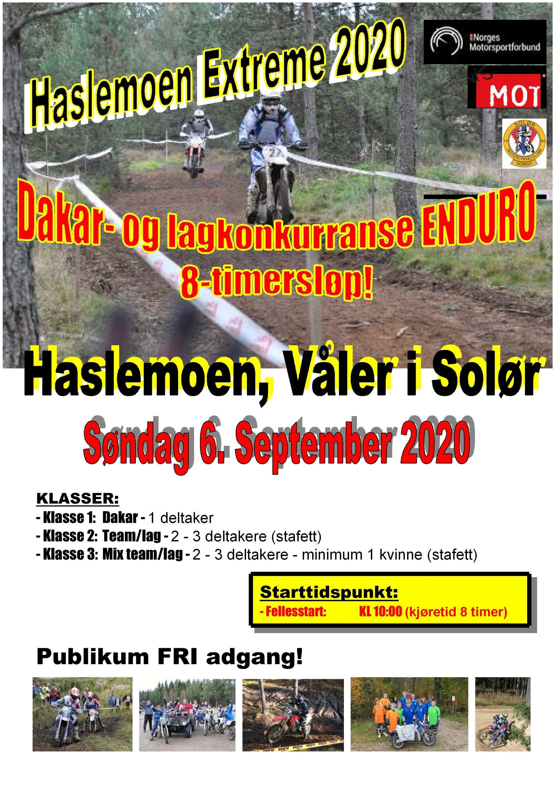 Poster HASLEMOEN EXTREME 2020