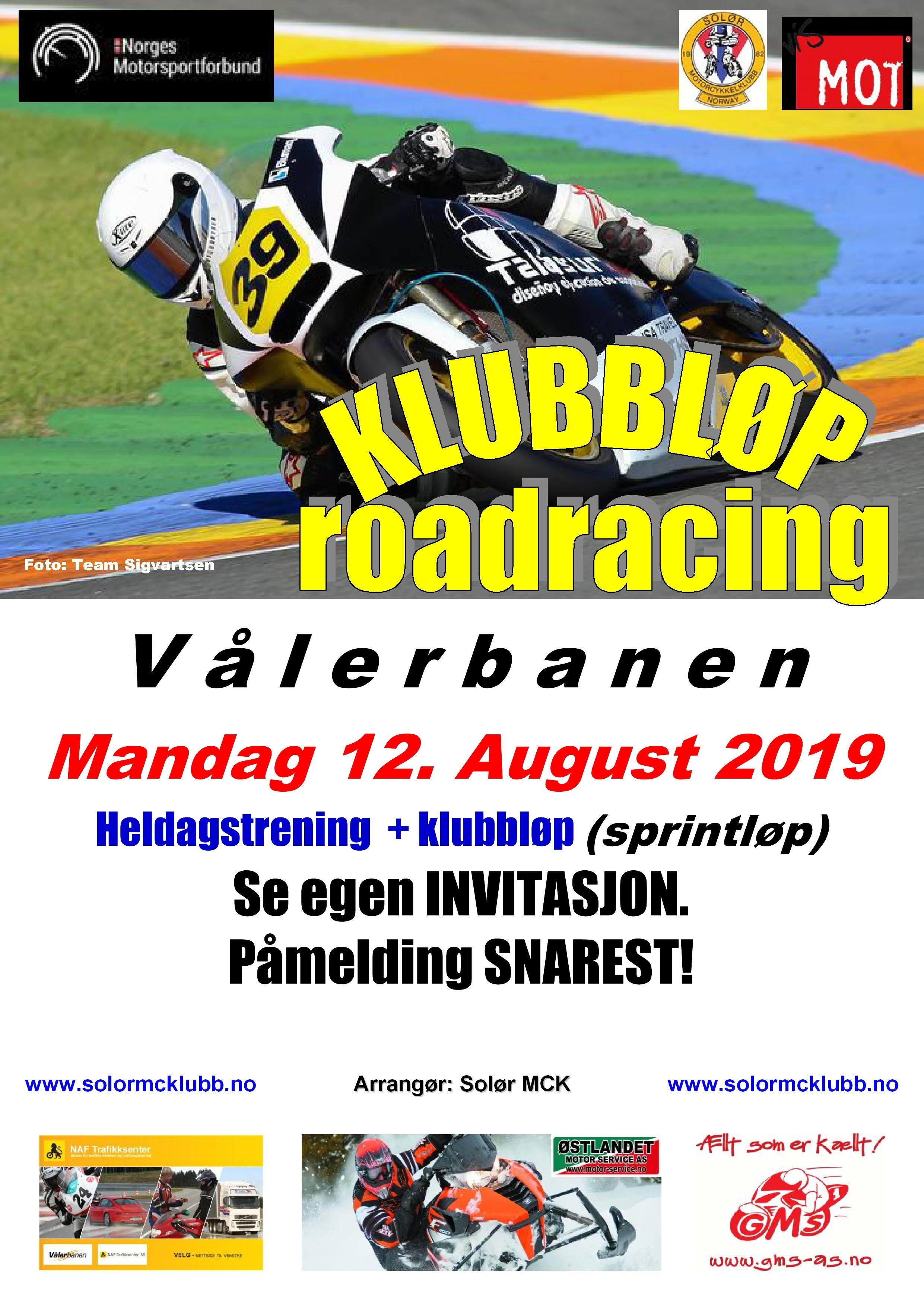 Poster KLUBBLØP 2 - RR 2019