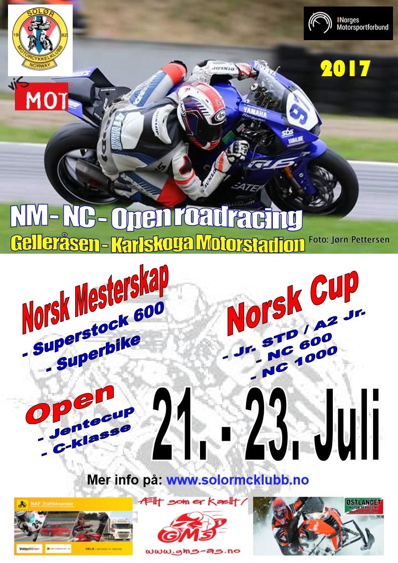 Poster NM-NC Karlskoga - Juli 2017