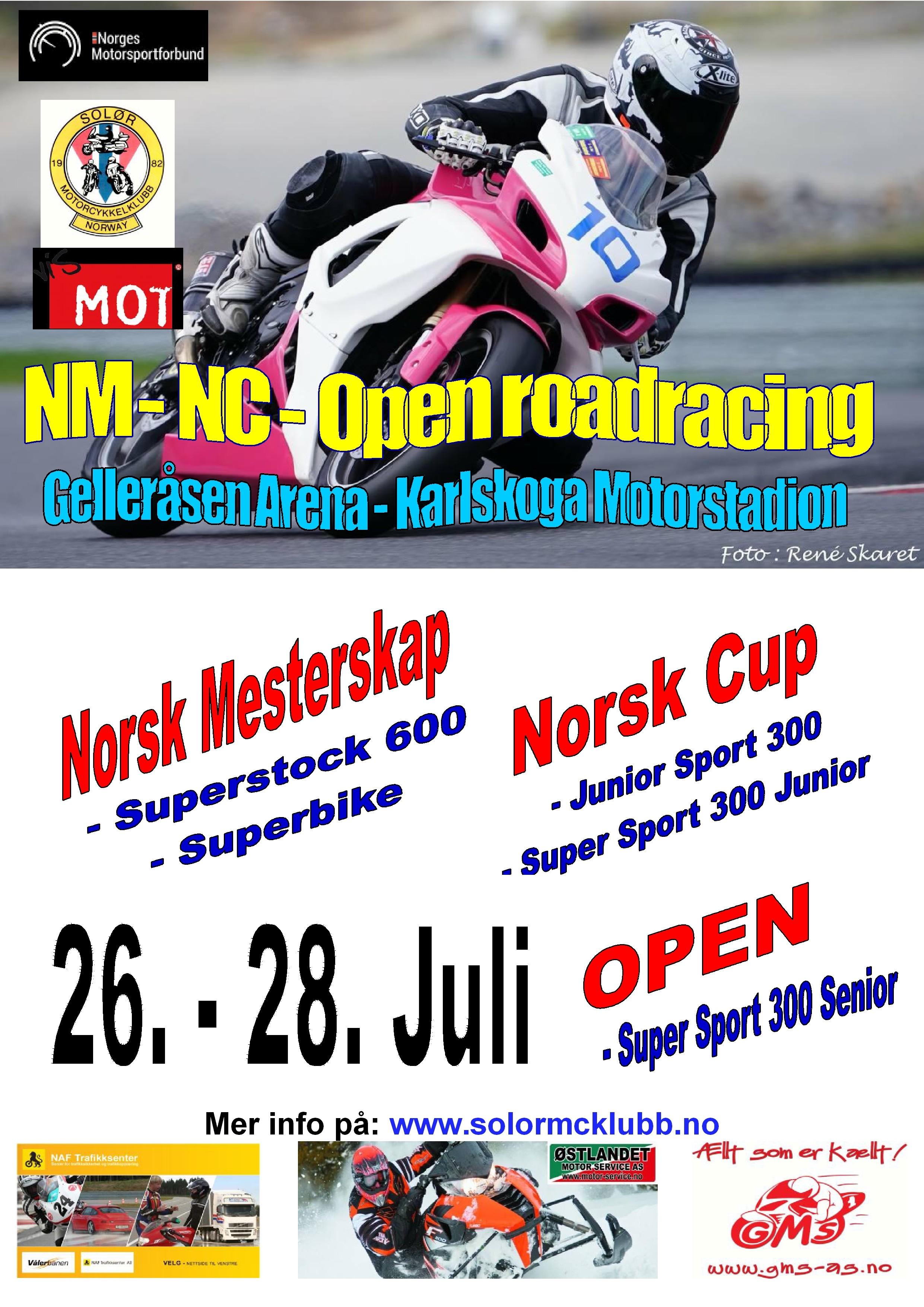 Poster NM-NC Karlskoga - juli 2019