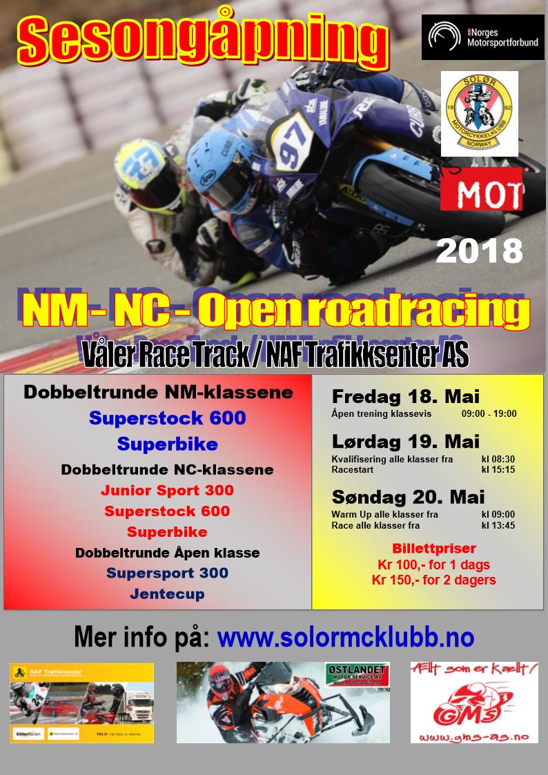 Poster NM-NC Vålerbanen MAI 2018