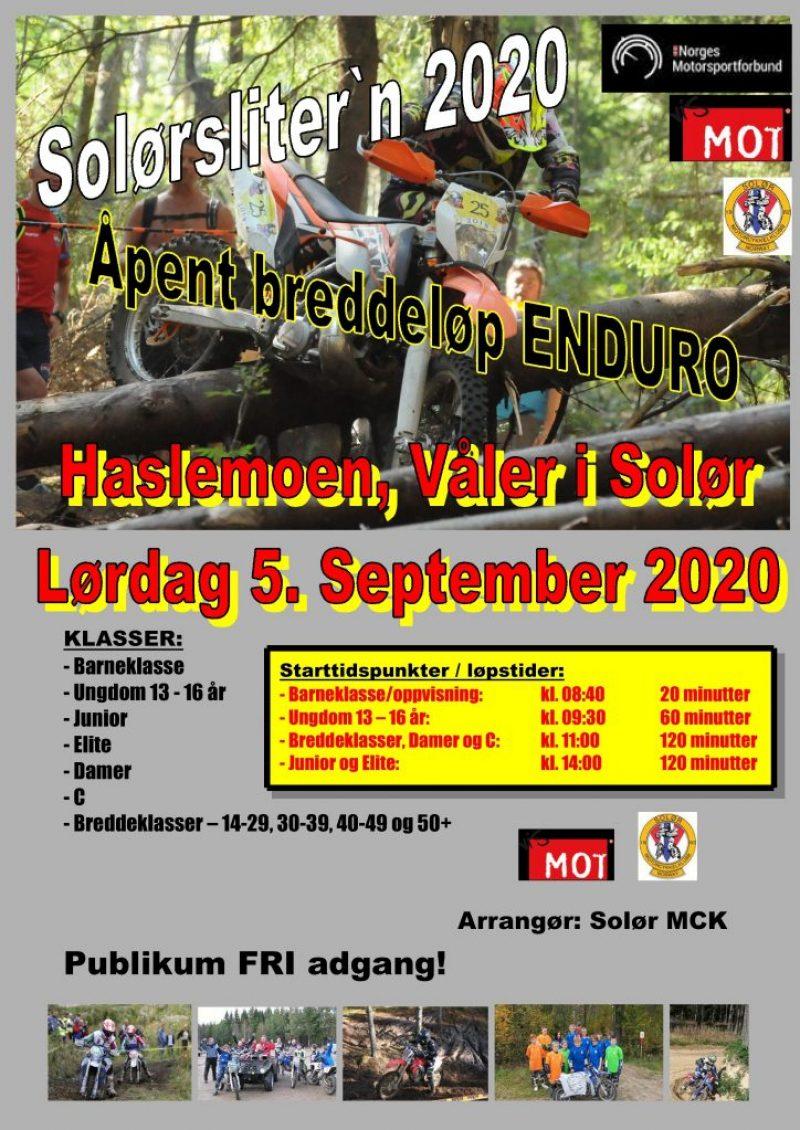 Poster Solørslitern 2020 - lørdag 5. september