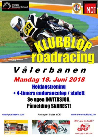 Poster klubbløp 1 - RR 2018