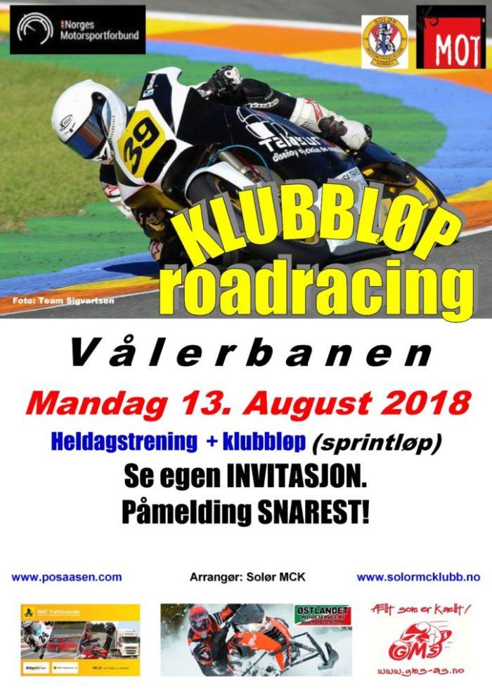 Poster klubbløp 2 - RR 2018