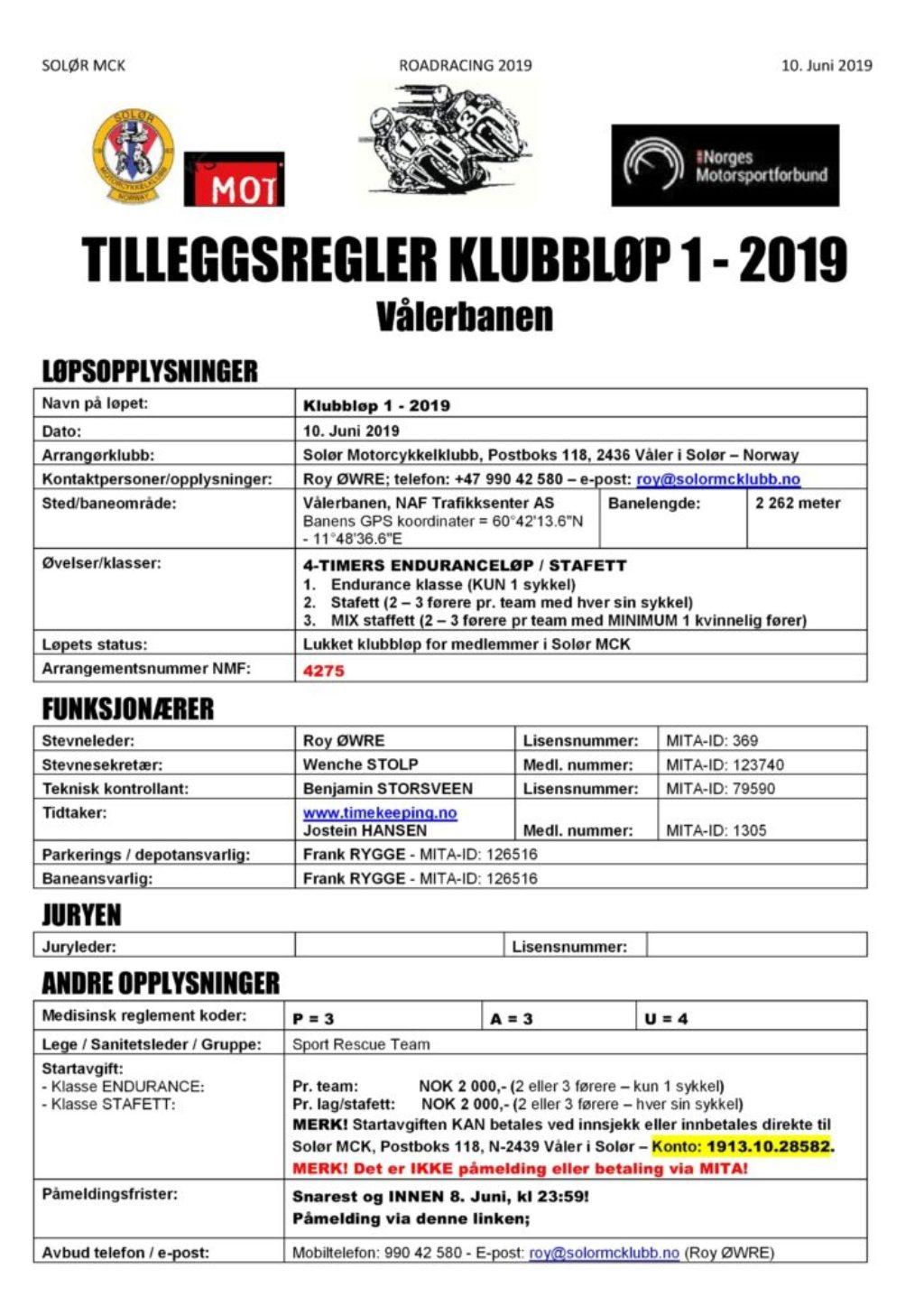 TR klubbløp RR - Vålerbanen - side 1